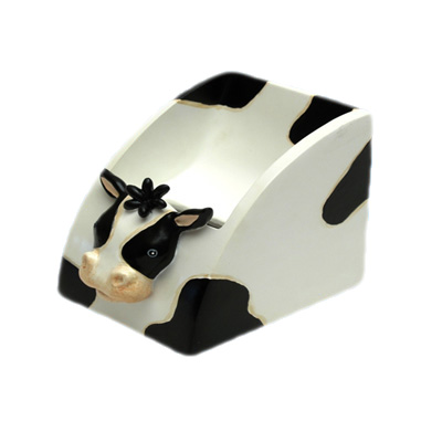 ceramic cow shape cell phone stand