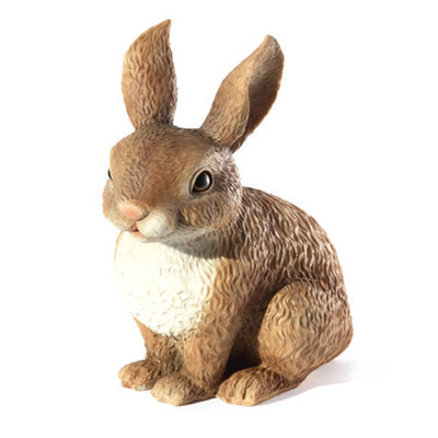 polyresin rabbit statue garden decoration