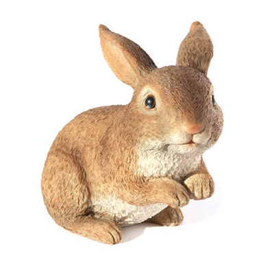 resin rabbit figurine for garden