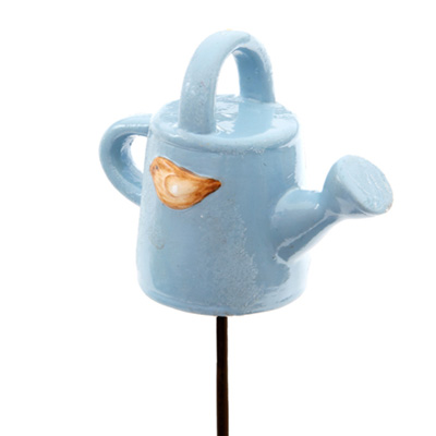 resin lovely watering can for decoration