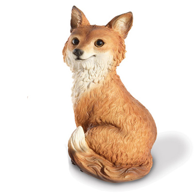 resin fox for garden