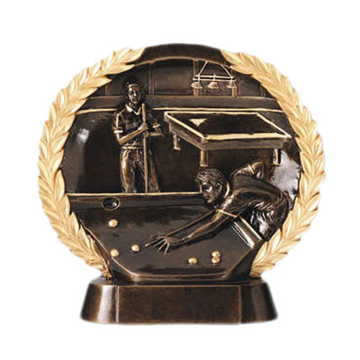 resin billiards competition trophy