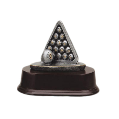 polyresin billiards ball trophy cup