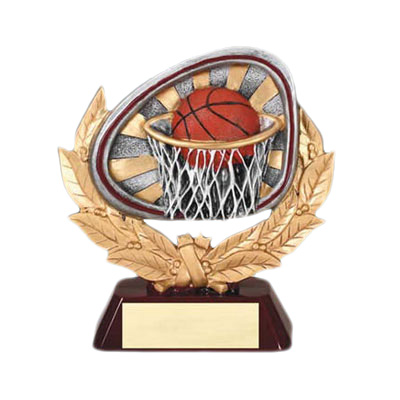 resin basketball competition trophy