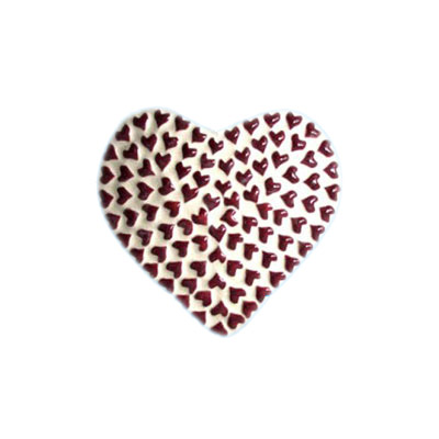 ceramic heart shape ring holder