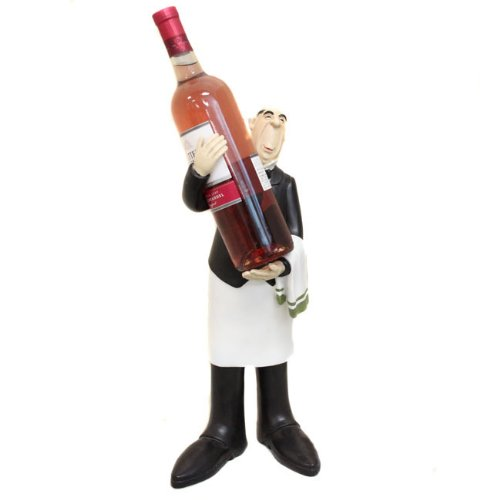 waiter chef figurine