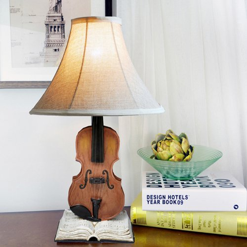 Vintage Resin violin antique table lights