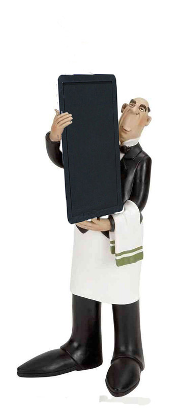 chef menu figurine